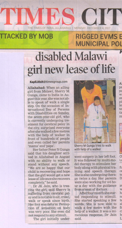 Cerebral Palsy Malawi Africa