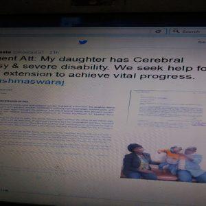 Tweet to Sushma Swaraj 001