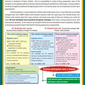 Special Training Program For Therapists